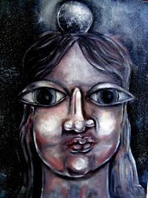 Lua na Cabeça - oleo sobre tela - Otavio Fantinato