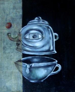 aceita uma xicara de café - 2008 - 40X50cm - óleo sobre tela