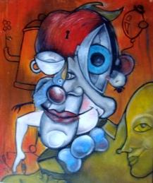 Sobre rir - 2008 - óleo sobre tela - 40X50cm